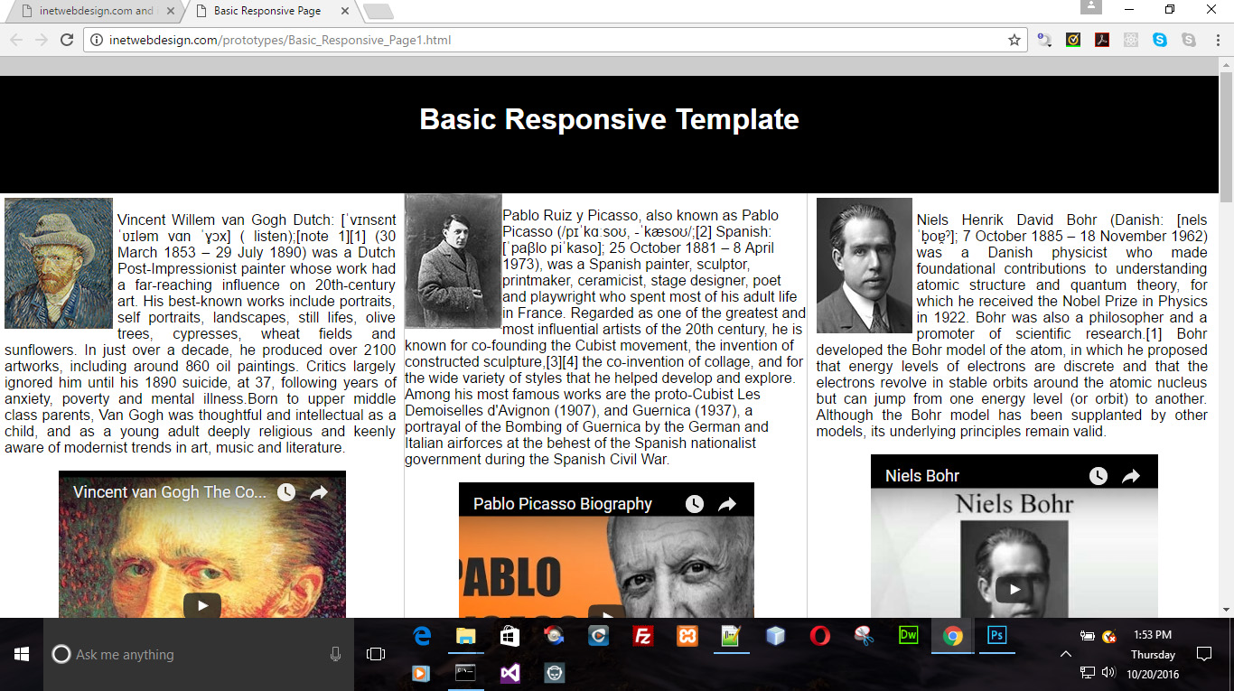 basic responsive template